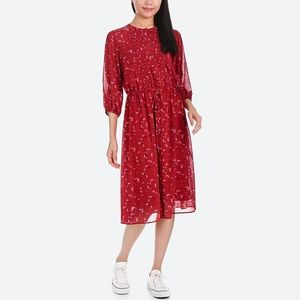 Uniqlo long dress three quarter length sleeves